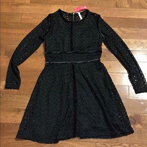 Target black lace velvet dress medium Xhilaration